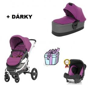 kočárek BRITAX RÖMER AFFINITY včetně korby AFFINITY 2014 + DÁREK autosedačka BABY SAFE plus - cool berry