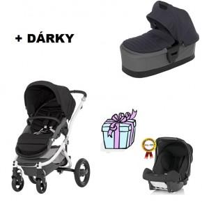 kočárek BRITAX RÖMER AFFINITY včetně korby AFFINITY 2014 + DÁREK autosedačka BABY SAFE plus - black thunder