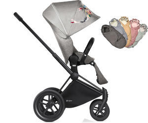 Kočárek CYBEX Priam All Terrain Matt Black Seat Lux Fashion Koi Crystallized 2018 + DÁREK