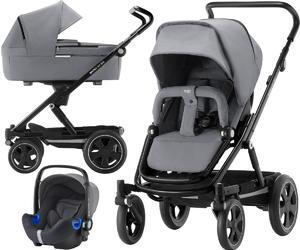 Kočárek BRITAX GO Big2 Premium Line 2019 včetně hluboké korby + autosedačka Baby-Safe i-Size ZDARMA, steel grey