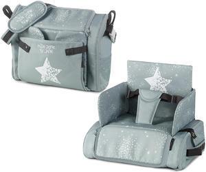 Jídelní židle-taška JANÉ Avant Bag s bočními kapsami 2019, T49 aquarel-blue