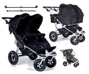 Kočárek TFK Twinner Twist Duo set s korbami Carrycot Twinner Twist Duo 2016, CS black