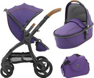 Kočárek BABYSTYLE Egg® včetně korby a tašky 2017 + DÁREK, gothic purple/gun metal rám