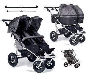 Kočárek TFK Twinner Twist Duo set s korbami Carrycot Twinner Twist Duo 2016, grey