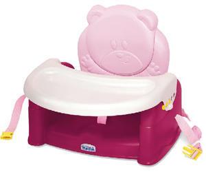 Jídelní židlička WEINA Teddy Bear 2017, Pink