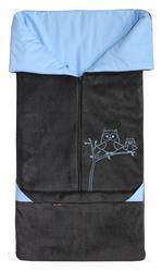 Fusak EMITEX Fanda 2v1 fleece s bavlnou 2016, antracit - světle modrý