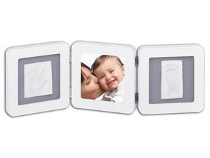 BABY ART Double Print Frame White & Grey 2018