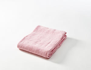 BABYDAN Háčkovaná deka new 2018, light pink světle růžová