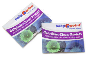 Vlhčené ubrousky BabySafe&Clean Protect 2018