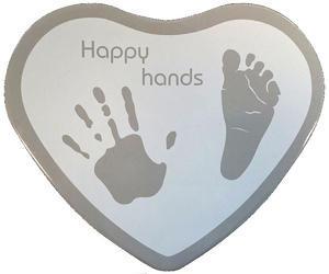 Sada pro otisky HAPPY HANDS 2D Heart Silver/White 2016