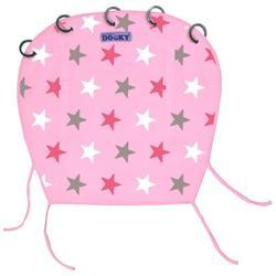 Sluneční design clona DOOKY 2017, baby pink/pink stars