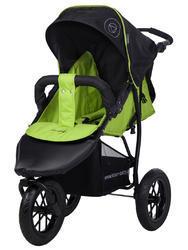 Tříkolka KNORR-BABY Joggy S na nafukovacích kolech 2016, happy colour grün
