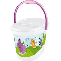 PRIMA BABY Koš na pleny Hippo, bílá