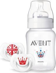 Sada AVENT Royal - láhev Classic 260 ml + 2 šidítka 6-18m 2015