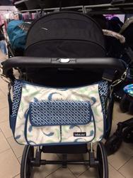Luxusní taška na kočárek BEBE JOU Pírka modrá