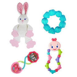 Dárková sada hraček Bright Starts  králíček Gift Set, 0m+
