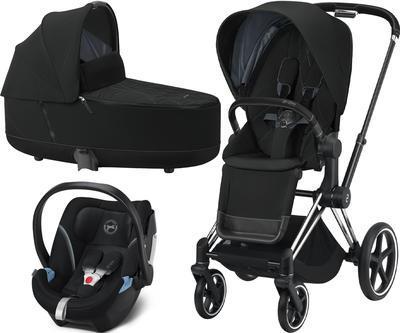 Kočárek CYBEX Set Priam Chrome Black Seat Pack 2021 včetně Aton 5, deep black - 1