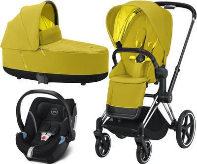 Kočárek CYBEX Set Priam Chrome Black Seat Pack 2021 včetně Aton 5, mustard yellow - 1