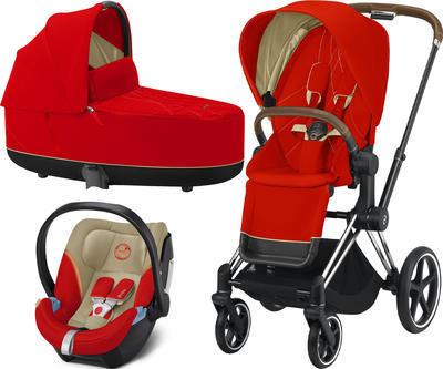 Kočárek CYBEX Set Priam Chrome Brown Seat Pack 2021 včetně Aton 5 - 1