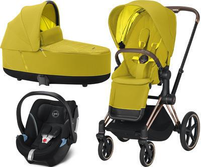 Kočárek CYBEX Set Priam Rosegold Seat Pack 2021 včetně Aton 5 - 1