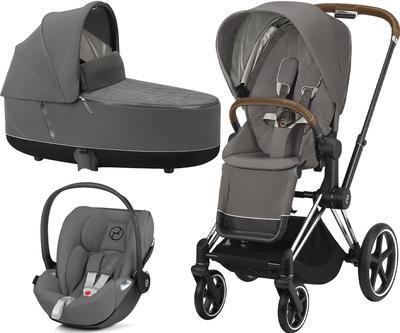 Kočárek CYBEX Set Priam Chrome Brown Seat Pack 2021 včetně Cloud Z i-Size - 1