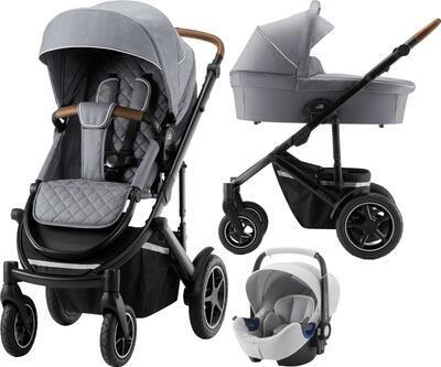 Kočárek BRITAX RÖMER Set Smile III 2020 včetně autosedačky, nordic grey - 1
