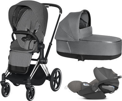 Kočárek CYBEX Set Priam Chrome Black Seat Pack PLUS 2021 včetně Cloud Z i-Size PLUS, manhattan grey - 1