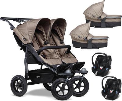 Kočárek TFK Duo Stroller Air Wheel 2021 včetně Duo Combi a 2 autosedaček - 1