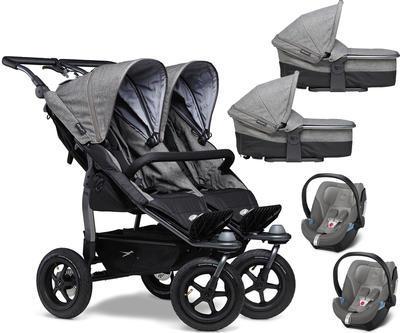 Kočárek TFK Duo Stroller Air Wheel Premium 2021 včetně Duo Combi Premium a 2 autosedaček - 1