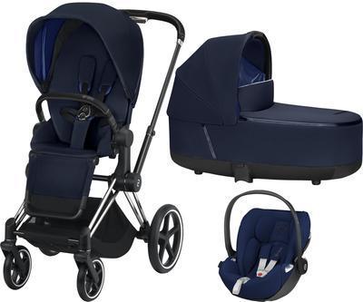 Kočárek CYBEX Set Priam Chrome Black Seat Pack 2019 včetně Cloud Z i-Size, indigo blue - 1