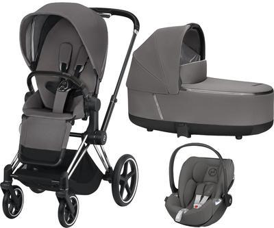 Kočárek CYBEX Set Priam Chrome Black Seat Pack 2019 včetně Cloud Z i-Size, manhattan grey - 1