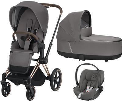 Kočárek CYBEX Set Priam Rosegold Seat Pack 2019 včetně Cloud Z i-Size, manhattan grey - 1