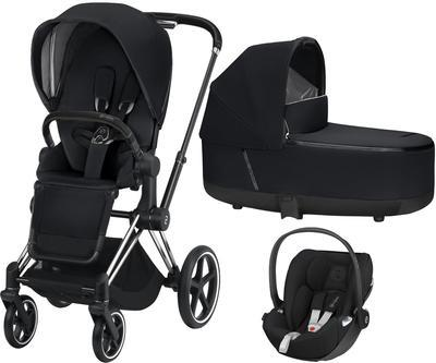 Kočárek CYBEX Set Priam Chrome Black Seat Pack 2019 včetně Cloud Z i-Size, premium black - 1