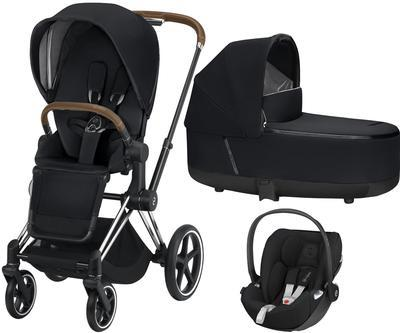 Kočárek CYBEX Set Priam Chrome Brown Seat Pack 2019 včetně Cloud Z i-Size - 1