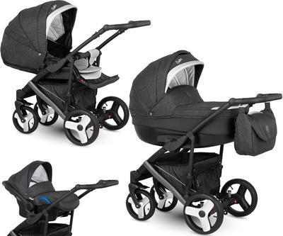 Kočárek CAMARELO Baleo 2020 včetně autosedačky, 11 tmavě šedo-stříbrná - 1