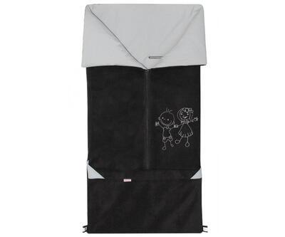 Fusak EMITEX Fanda 2v1 fleece s bavlnou 2020, černá - šedá - 1