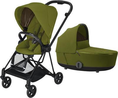Kočárek CYBEX Mios Matt Black Seat Pack 2021 včetně korby, khaki green - 1
