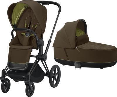 Kočárek CYBEX Priam Matt Black Seat Pack 2021 včetně korby - 1