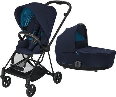 Kočárek CYBEX Mios Matt Black Seat Pack 2021 včetně korby, nautical blue - 1