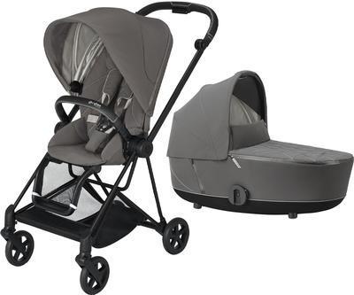 Kočárek CYBEX Mios Matt Black Seat Pack 2021 včetně korby, soho grey - 1