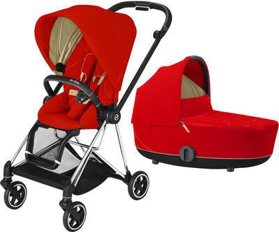 Kočárek CYBEX Mios Chrome Black Seat Pack 2021 včetně korby, autumn gold - 1