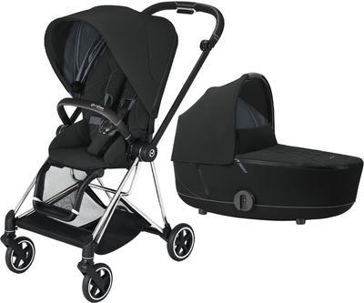 Kočárek CYBEX Mios Chrome Black Seat Pack 2021 včetně korby, deep black - 1
