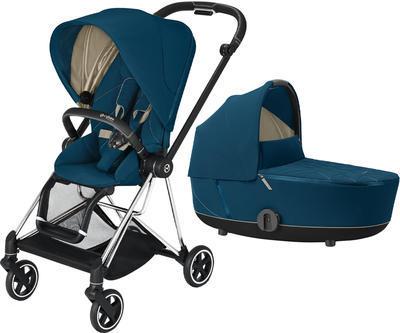 Kočárek CYBEX Mios Chrome Black Seat Pack 2021 včetně korby, mountain blue - 1