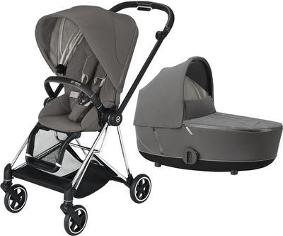 Kočárek CYBEX Mios Chrome Black Seat Pack 2021 včetně korby, soho grey - 1