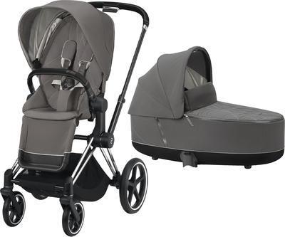Kočárek CYBEX Priam Chrome Black Seat Pack 2021 včetně korby - 1