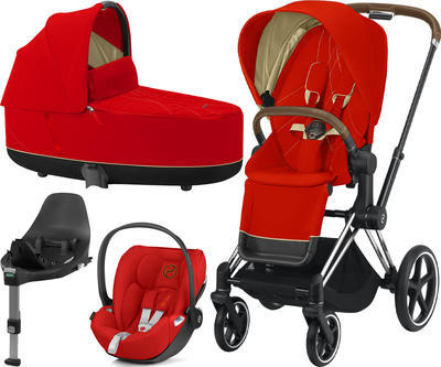 Kočárek CYBEX Set Priam Chrome Brown Seat Pack 2021 včetně Cloud Z i-Size a base Z, autumn gold - 1