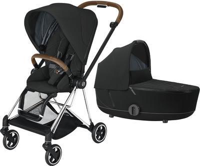 Kočárek CYBEX Mios Chrome Brown Seat Pack 2021 včetně korby, deep black - 1