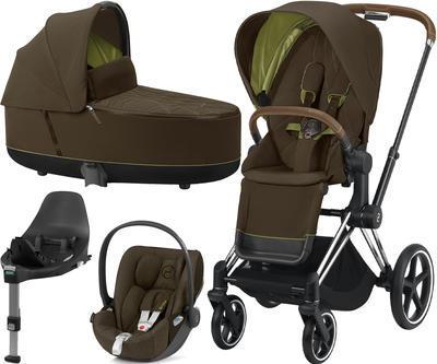 Kočárek CYBEX Set Priam Chrome Brown Seat Pack 2021 včetně Cloud Z i-Size PLUS a base Z - 1