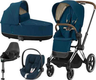 Kočárek CYBEX Set Priam Chrome Brown Seat Pack 2020 včetně Cloud Z i-Size PLUS a base Z, mountain blue - 1