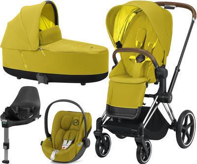 Kočárek CYBEX Set Priam Chrome Brown Seat Pack 2021 včetně Cloud Z i-Size PLUS a base Z, mustard yellow - 1